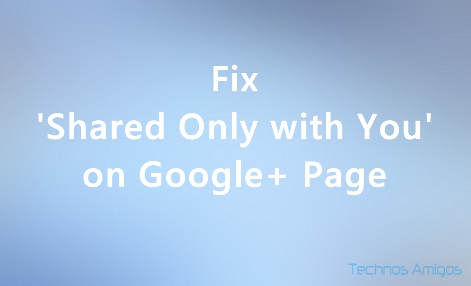 Fix Google+ Page Settings