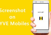 Screenshot on HYVE Mobiles
