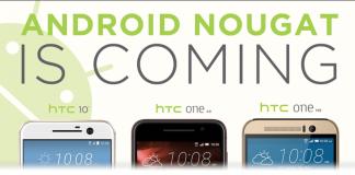 HTC Android Nougat update