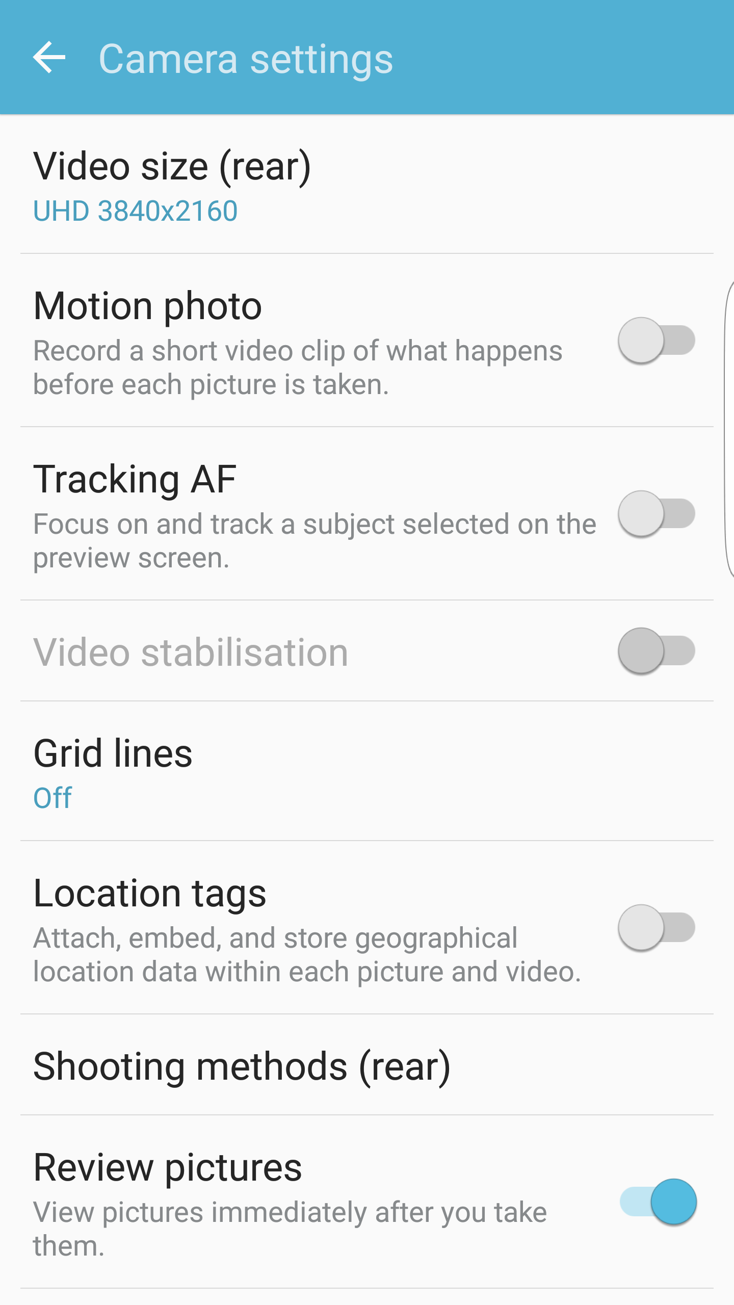 Galaxy S7 Motion Photos