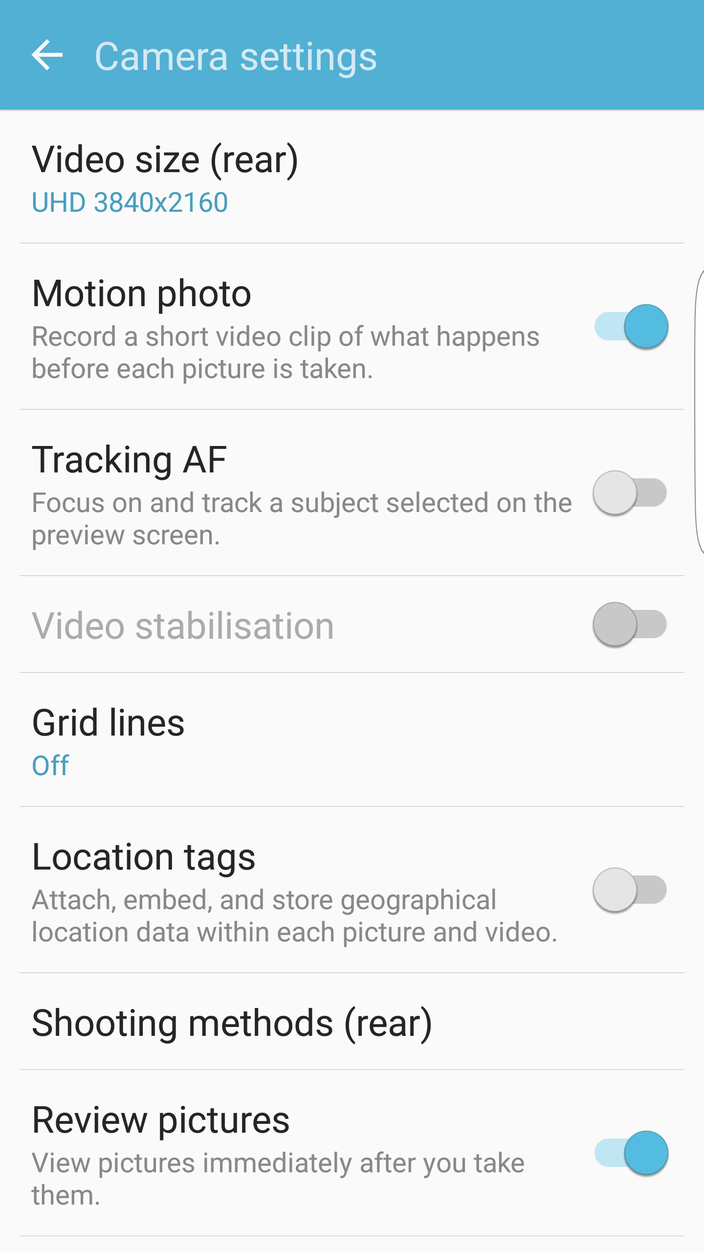 Galaxy S7 Motion Photos