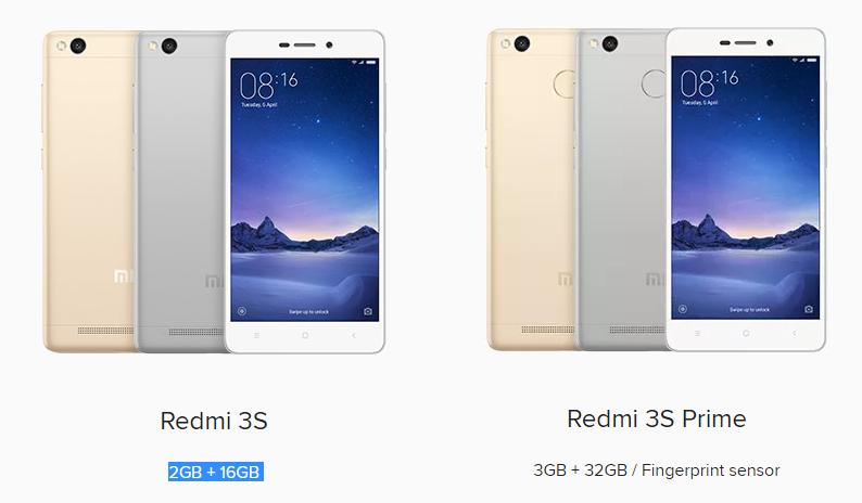 Xioami Redmi 3S vs Redmi 3S Prime