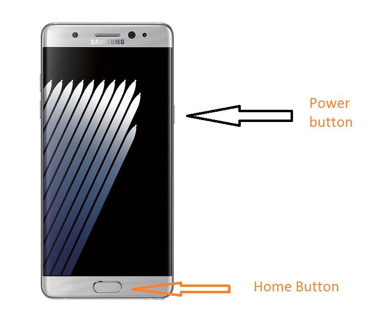 Screenshot on Galaxy Note 7