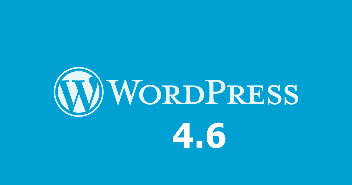 WordPress 4.6 update