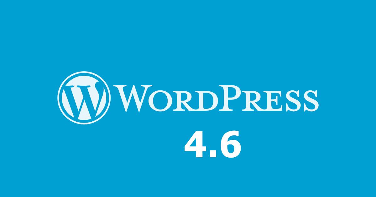 WordPress 4.6 update