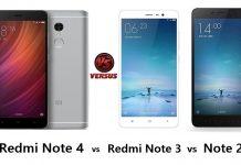 Xiaomi Redmi Note 4 vs Redmi Note 3 vs Note 2 comparison