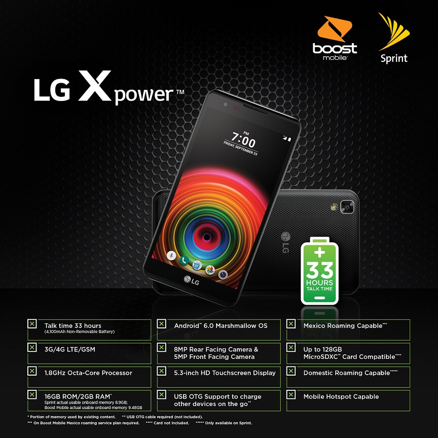 LG X Power Boost Mobile