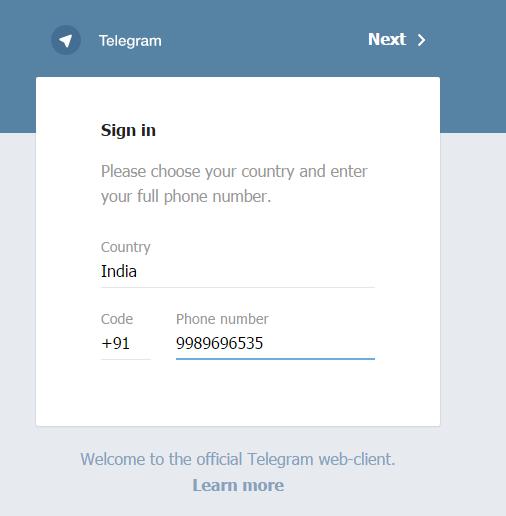 Telegraph Web Version
