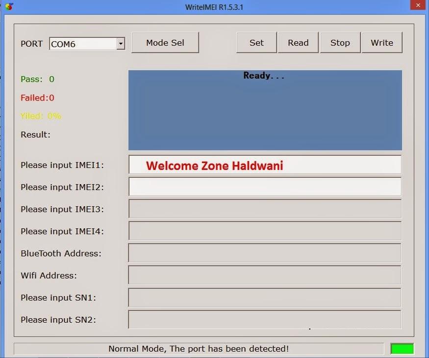 WriteIMEI - Spreadtrum IMEI Repair Tool