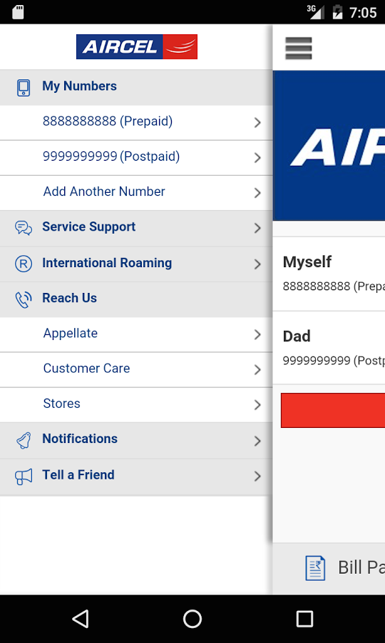 Aircel Apk for Android | Aircel iPhone app
