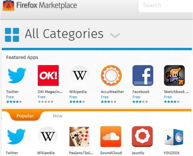 Firefox Marketplace – A Firefox Apps Store to Download Apps