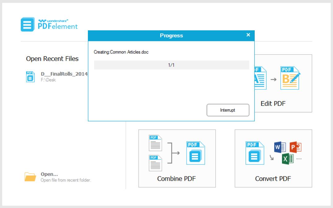 PDFelement Creating a pdf