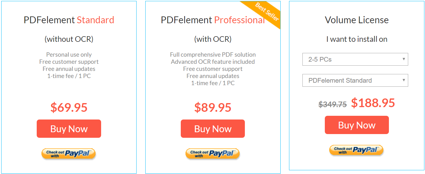 PDFelement Pricing