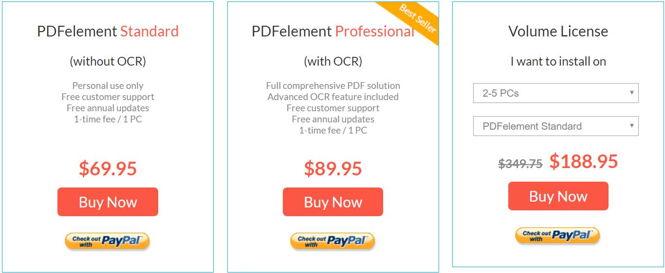 PDFelement Pricing