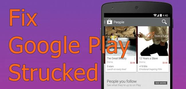 Fix Google Play Strucked at Downloading