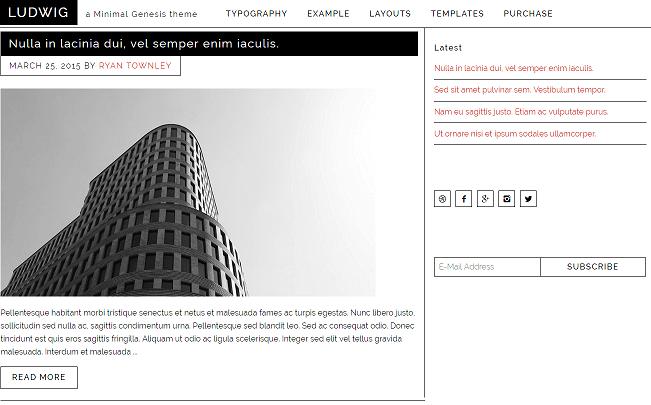 Ludwig WordPress Theme