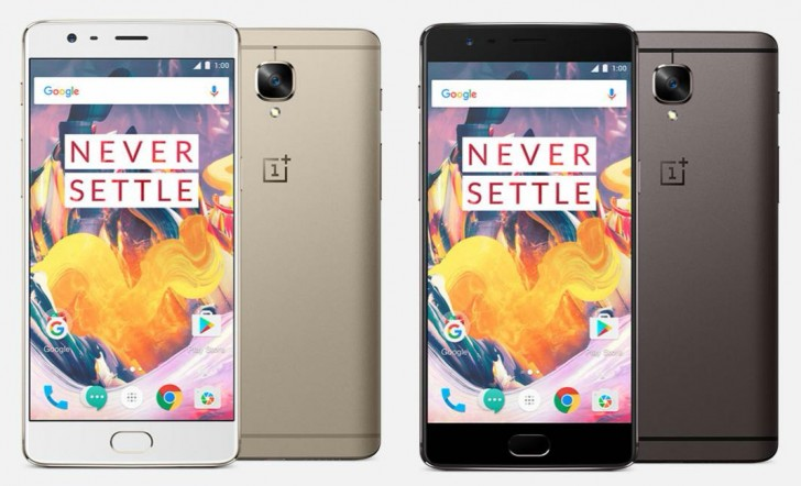 OnePlus 3T Remains Same as OnePlus 3, adds Selfie Dedicated 16 MP Camera