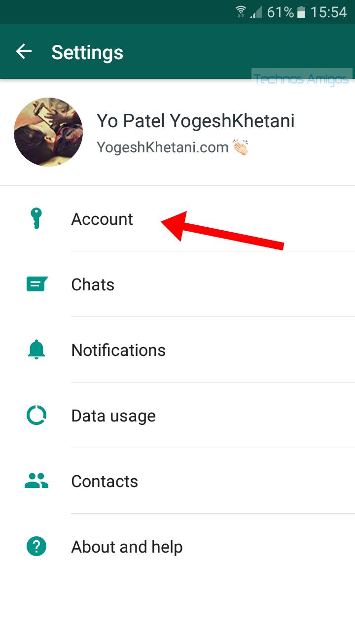 Whatsapp Settings Tab