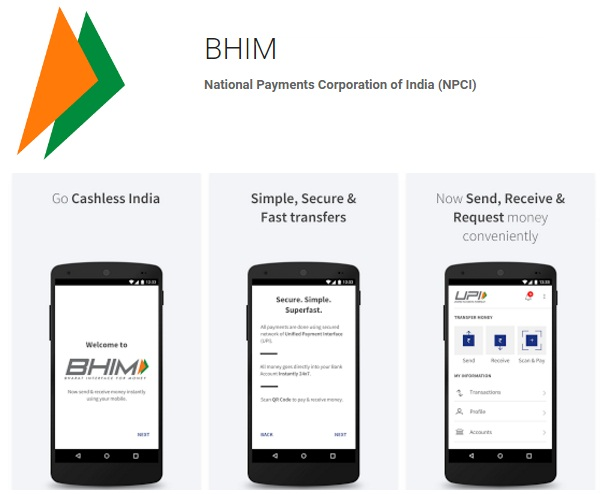 BHIM app for iPhone
