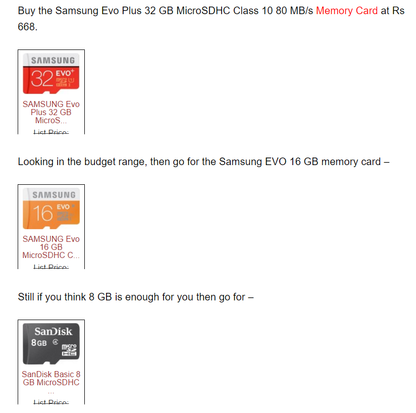 Best Memory cards