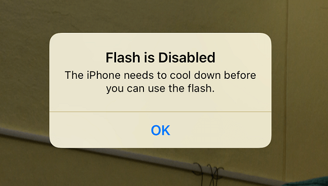 Flash is Disabled iPhone 7 Plus Error