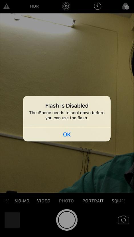 Apple iPhone 7 Plus camera error