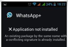 Conflicting Signature Error Android