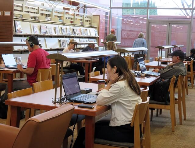 Library with Internet Access