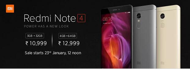 Xiaomi Redmi Note 4 flash sale