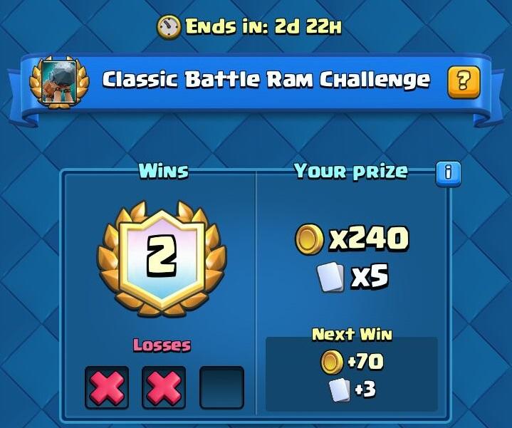 Clash Royale Classic Battle Ram Challenge