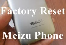 Factory Reset Meizu Phone
