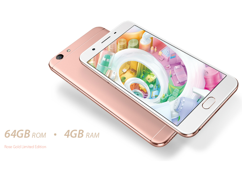Oppo F1s Rose Gold Color