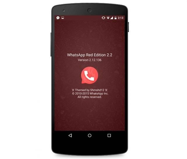 WhatsApp Red version