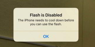 iPhone Flash is Disabled