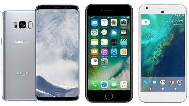 Galaxy S8 vs iPhone 7 vs Google Pixel