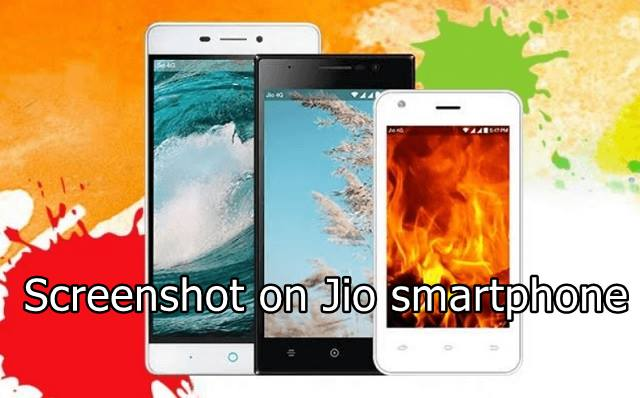 Screenshot on Jio smartphone | JioPhone screenshot