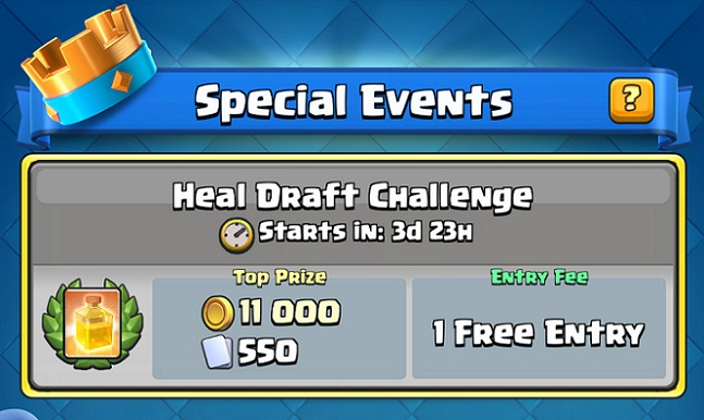 Clash Royale Heal Draft Challenge
