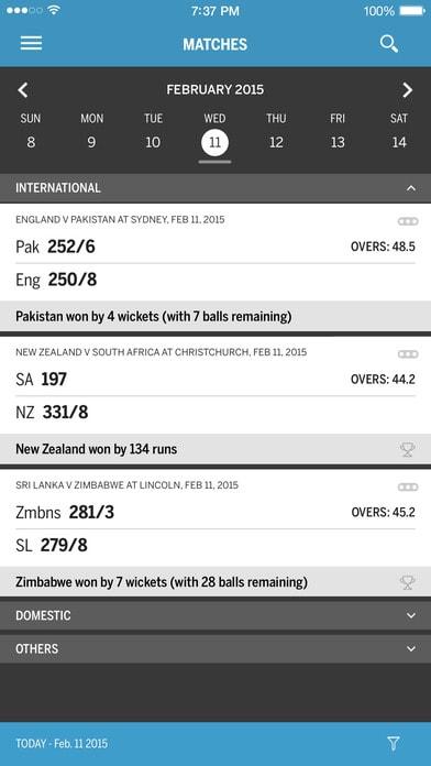 Cricinfo Live Score