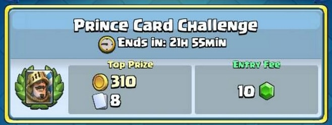 Clash Royale Prince Card Challenge