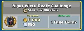 Clash Royale Night Witch Draft Challenge 12 Win Strategy Deck, Tips & Tricks