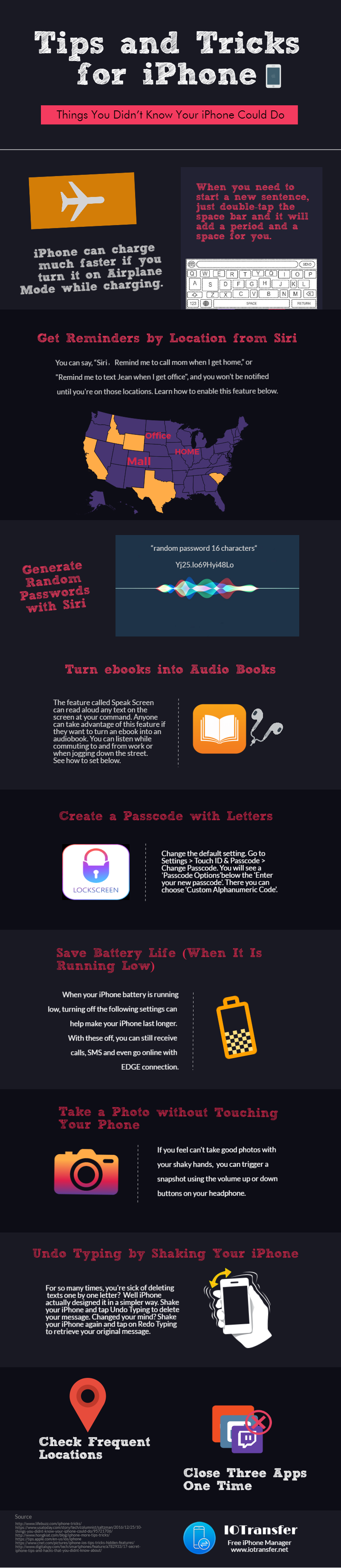 iPhone tips infographic