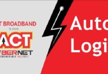ACT Fibernet Auto login