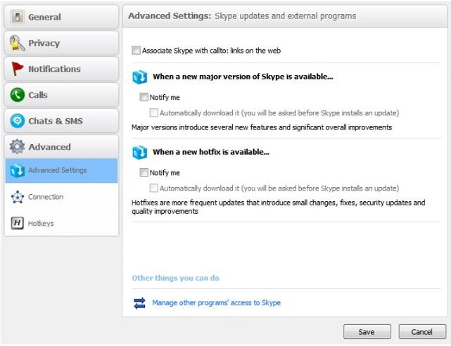 Disable Skype Forced Updates