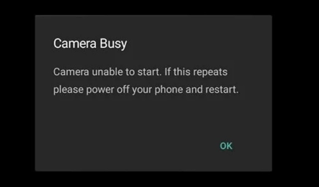Fix Camera Busy Error on Android