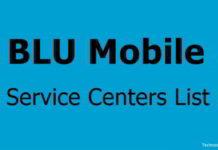 BLU Service Centers list in india