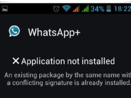 Conflicting Signature Error on Android