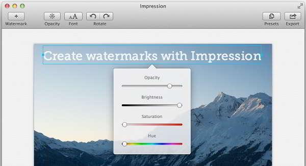 Impression 2 for Mac