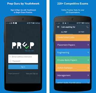 PrepGuru Android app for Student