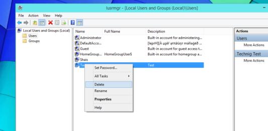 Remover user profile on Windows 10