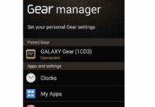 Samsung Gear Manager app